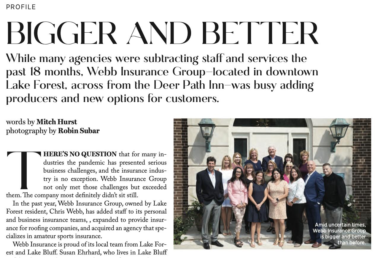 Webb Insurance Group Bigger and Better