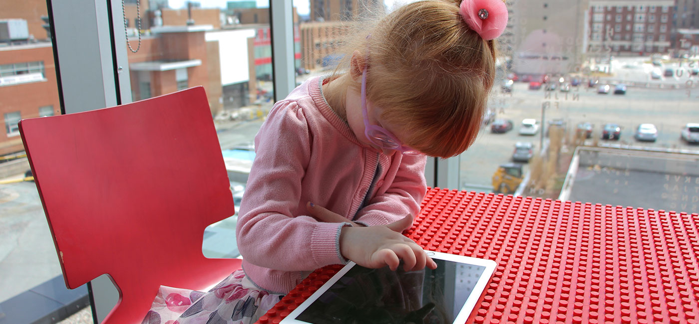 Image of child using the Squiggle Park application