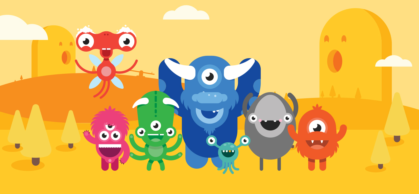 Image of Squiggle Park monster illustrations