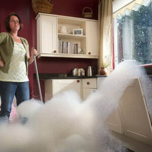 dishwasher spills it's suds ruining the kitchen floor