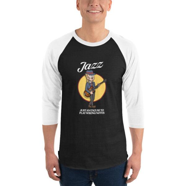 Jazz unisex-34-sleeve-raglan-shirt-black-white-5ff390400c2a6.jpg