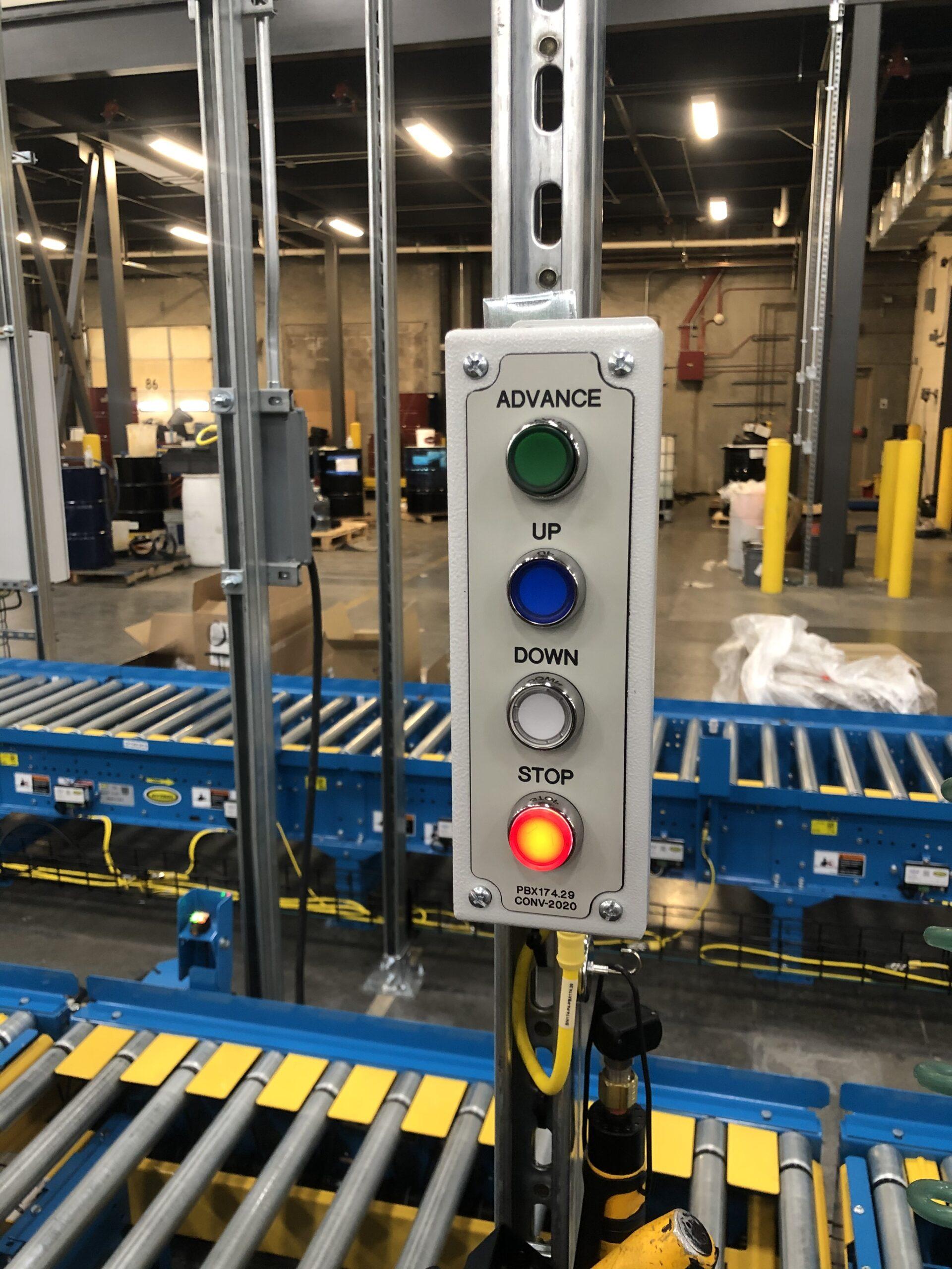 Conveyor line push button box