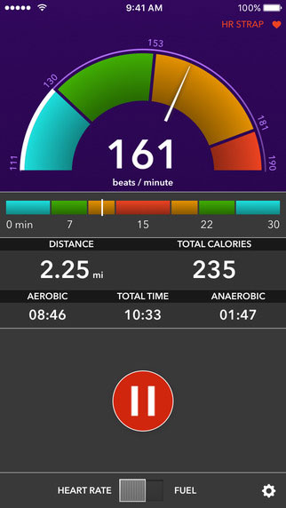 VO2 max mobile training app screenshot