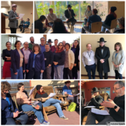 Collage of images from the retreat