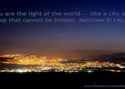 Pray America Great Again Matthew 5 14 A City On A Hilltop