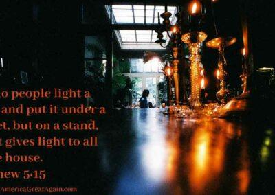 Pray America Great Again Put Light On A Stand Matthew 5 15
