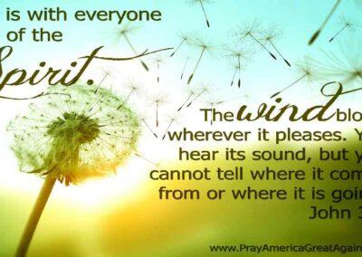 Pray America Great Again Scripture Meme John 3 8