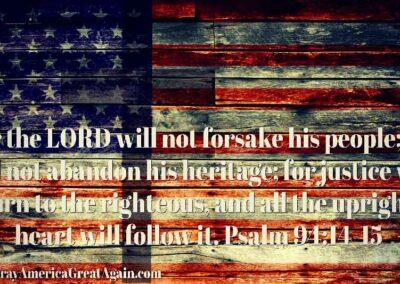 Pray America Great Again Psalm 94 11