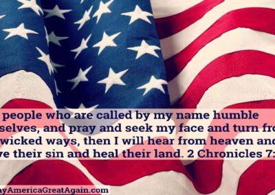 Pray America Great Again American Flag 2 Chronicles 7 14