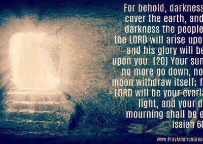 Pray America Great Again Isaiah 60 2 And 20