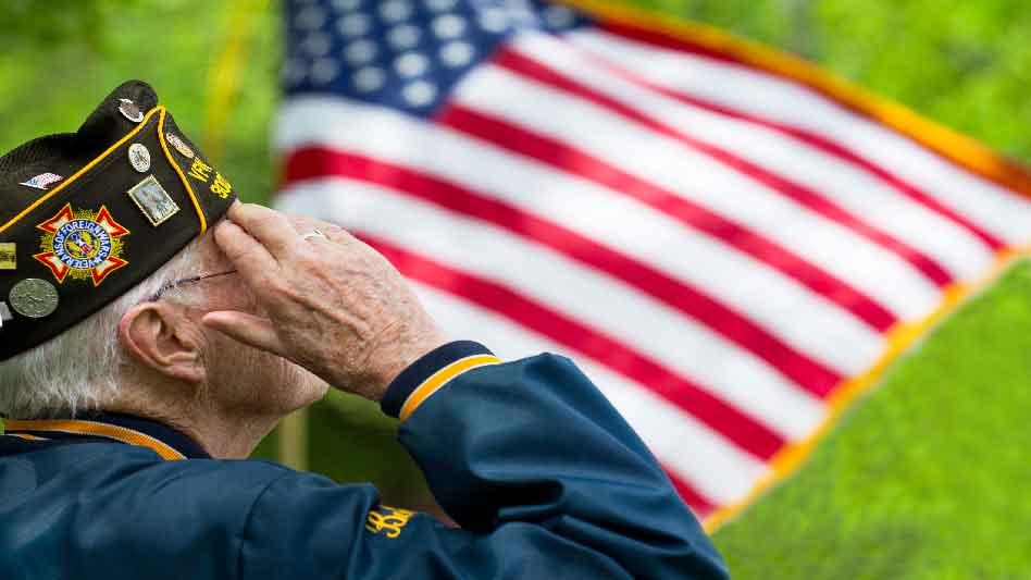 Pray America Great Again World War II Veteran Saluting Flag