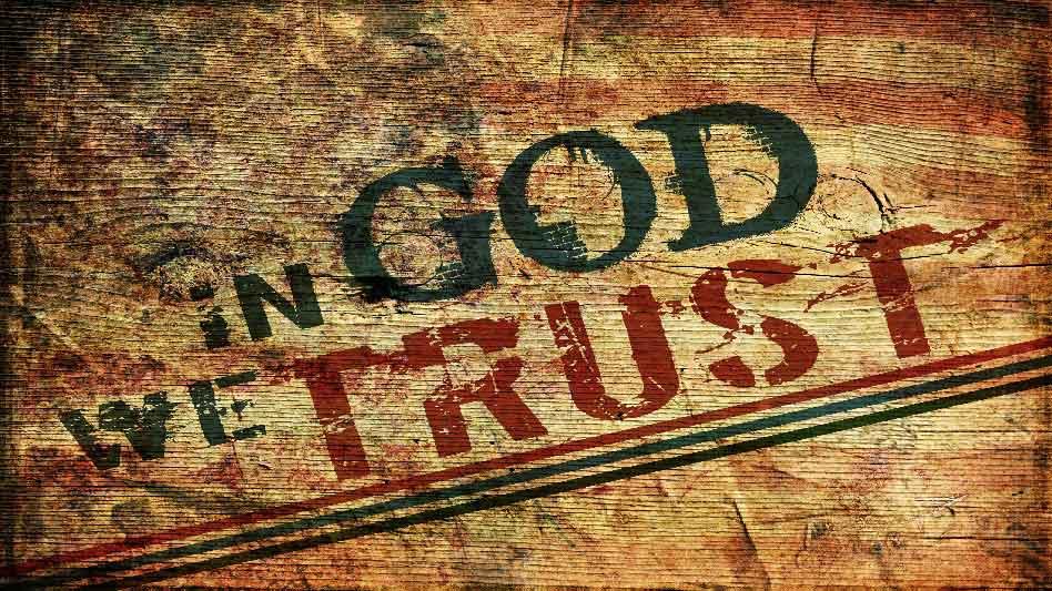 Pray America Great Again In God We Trust Grunge