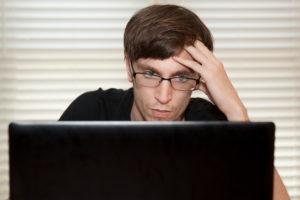 website writing - man at computer