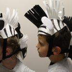 zebra headpieces side
