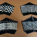 black & white cotton Egyptian hats varying patterns