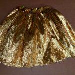 gold lamé skirts