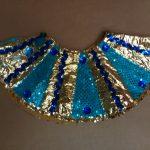 gold, teal, & royal blue sequin Egyptian collar