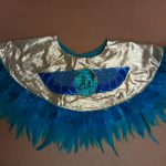 gold w_teal feathers Egyptian collars