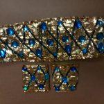 gold w_teal stones belt & wristlets