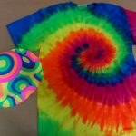 rainbow hats & tie die shirts