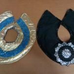reversible black & silver flower_gold & blue stars Egyptian collars
