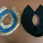 reversible black_gold & blue stars Egyptian collars