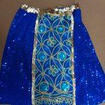 royal blue sequin skirt