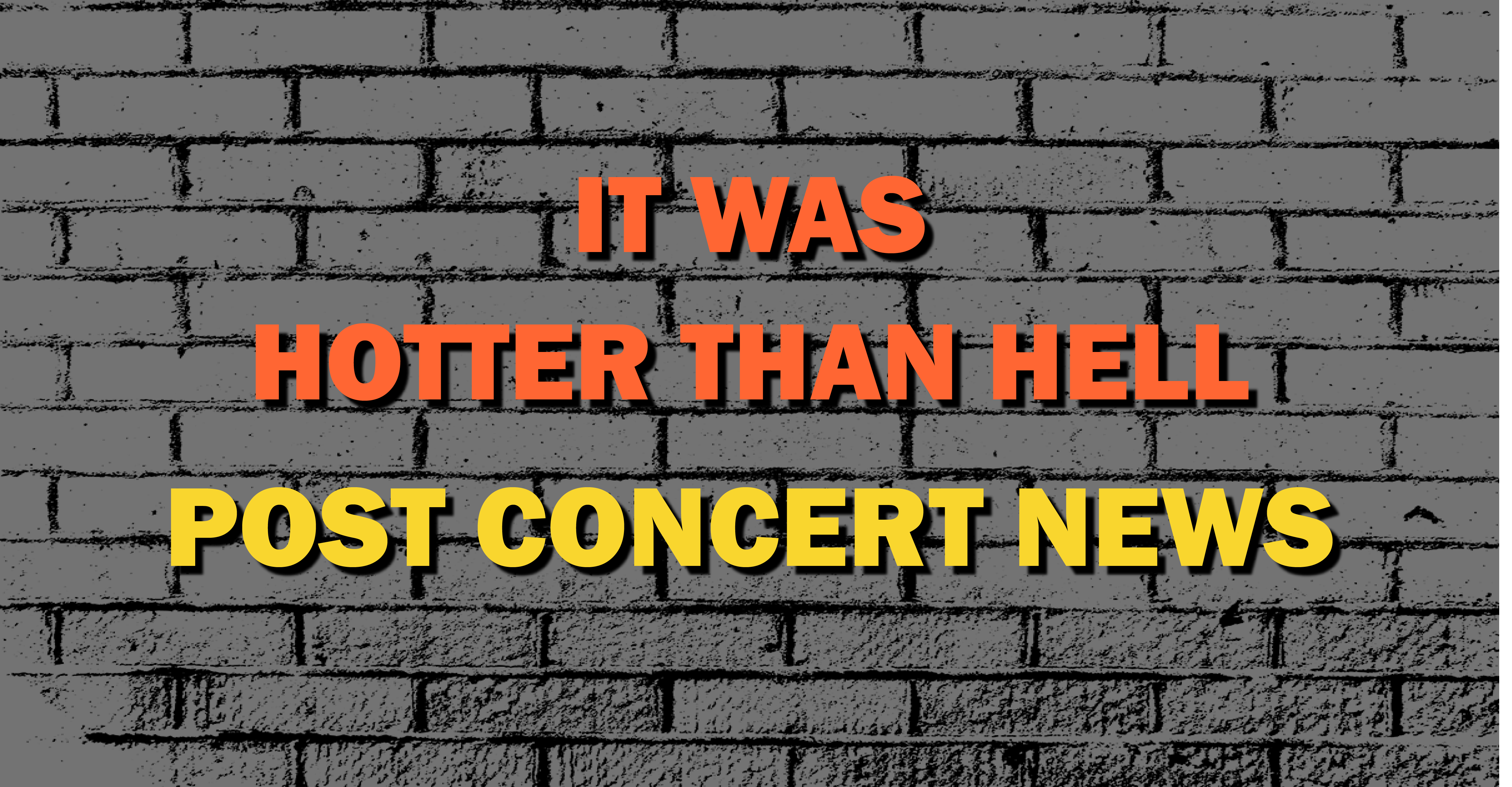 Wiping Off The Sweat | Post Concert Wrap Up