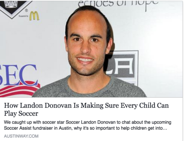 How Landon Donovan Is Making Sure Every Child Can Play Soccer