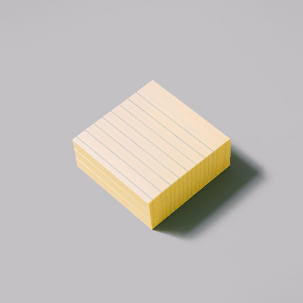 here's a blank notepad
