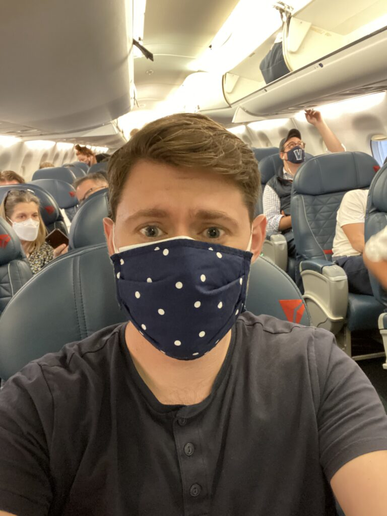 that's me, onboard a recent flight
