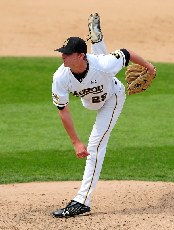 That's a photo I took of then-University of Missouri pitcher Ryan Clubb, I believe taken in 2009.