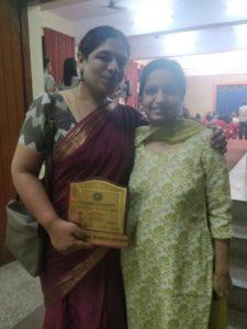 Anita Cheria with Pushpa Achanta at Nirbhaya Awards 2018