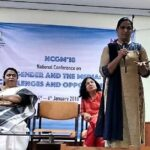 Session 1: Engendering change: how the Tamil media was a pioneer (from left): Dr Jaya Shreedhar, health consultant and journalist; Dr R Lakshmibai, former project director, Tamil Nadu AIDS Initiative; Ms Priya Babu, activist; Ms Shobha Warrier, senior journalist and writer.