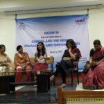 Session 5: Sexual harassment at the workplace (from left): Sudha Ramalingam (advocate), C Vanaja, Rohini Mohan (moderator), Kirit Jayakumar (Red Elephant Foundation), Bhumika.