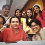The Chennai organising team (front): Jency Samuel, Ramya Kannan, V Saradha, and (back): Lavanya Natarajan, B Jayashree, Durganandini, Dhanya Rajendran, Induja Raghunath.