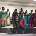 Dance by rural journalists from Chittoor District of Andhra Pradesh who run Navodayam, a women's magazine.