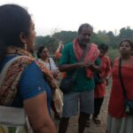 Early morning walk with environmental journalist Nityanand Jayaraman in the Pallikkaranai marshland.