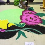 A colourful kolam welcomed participants to the meet.