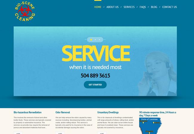 Bio Scene Cleaning - BWS WordPress Project