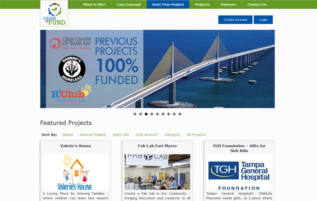 BrixTec Web Solutions Project - a WordPress Business Website - Cause To Fund