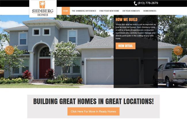 BrixTec Web Solutions Project - a WordPress Business Website - Shimberg Homes