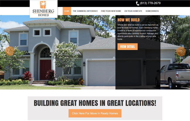 A BrixTec Web Solution - WorpPress - Shimberg Homes