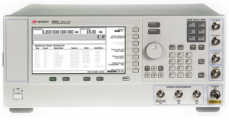 Keysight (Agilent) E8663D PSG RF Analog Signal Generator, up to 9 GHz