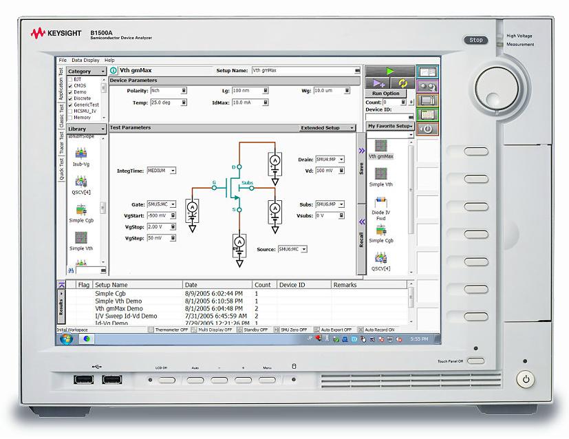 Keysight (Agilent) B1500A Semiconductor Device Parameter Analyzer (Characterization System) Mainframe/EasyEXPERT