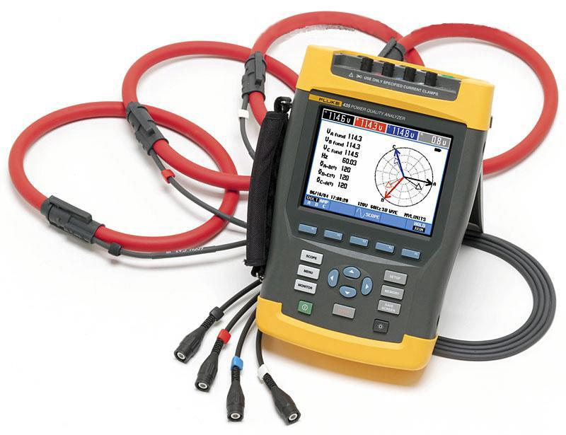 Used Fluke 434/435 Three-Phase Power Quality Analyzers