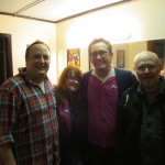 Paco Romane with Judy Brown, Tom Kenny, Dan Spencer at Cobb's Comedy Club for LIVE Shakes The Clown reading!