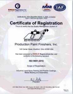 Production Paint Finishers ISO