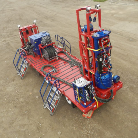 Compact Mini Hydraulic Workover and Snubbing Units for Land or Offshore