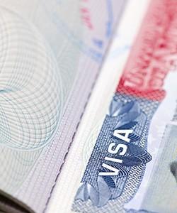 A U.S. Work Visa document